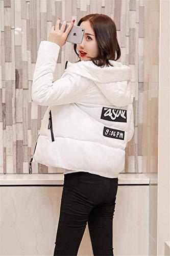 Outwear Mujer Chaqueta Fit Plumas Modernas Acolchada Blanco Caliente Larga Abrigo Encapuchado Manga Fashion Elegantes Slim Acolchado Invierno Espesar Outdoor HZwpqw