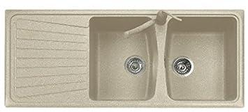 Lavelli Cucina In Granito.Plados Lavello Cucina Incasso Pietra 2v 116 Cm Fragranite Spazio