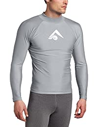Men's Long-Sleeve Platinum UPF 50+ Rashguard
