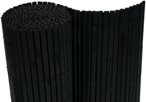 Estera de PVC 180 x 500 cm Wind Protector para balcones Valla de jardín (Negro – Tubos: Amazon.es: Jardín