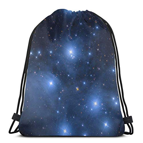 Outer Space Star Nebula Astral Cluster Astronomy Theme Galaxy Mystery 3D Print Drawstring Backpack Rucksack Shoulder Bags Gym Bag For Adult 16.9
