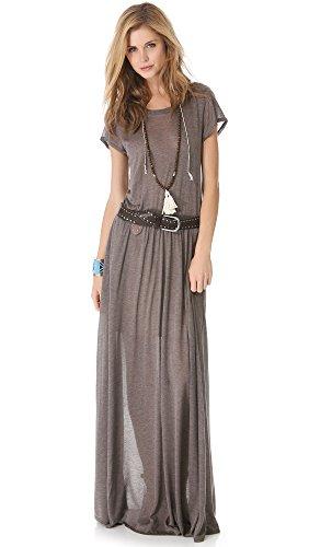 Heather Women's Maxi Tee Dress, Mink, Petite