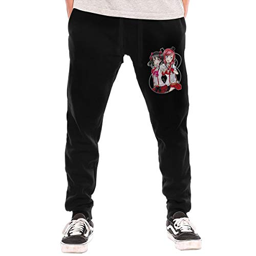 Jotaro Anime Love Live Nico Yazawa & Maki Nishikino Sweatpants Bottom Long Pant with Pocket for Men Black