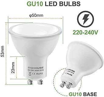 50W Halogen Bulbs Equivalent GU10 LED Light Bulbs 3000K Warm White 5W 120/° Beam Angle 400lm Pack of 10