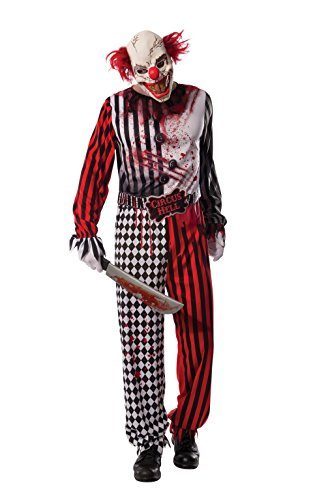 Killer Clown Costumes For Men (Rubie's Costume Co Men's Evil Clown Costume, Multi, Standard)