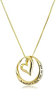 Amazon Com Sterling Silver A Mother S Love Has No End