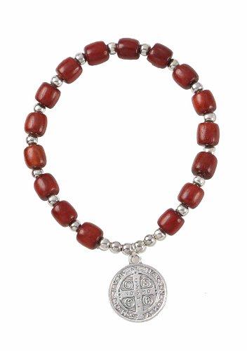 Silver Benedict Cherry Wooden Bracelet product image