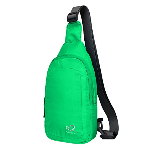 WATERFLY Chest Sling Shoulder Bag, Lightweight Mini Casual C
