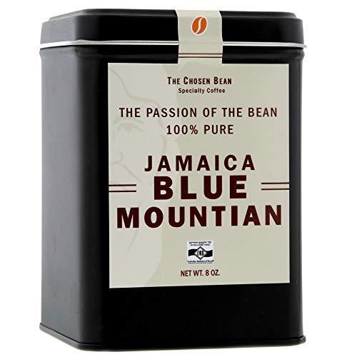 The Chosen Bean 100% Jamaica Blue Mountain Fresh Roasted Pea Berry Coffee Beans Hand Picked Whole Bean 8 ()