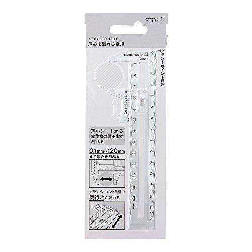 Midori CL Slide Ruler Clear (42260006)