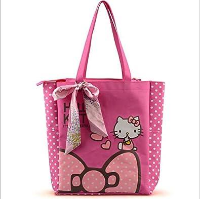 Amazon.com: new Hello Kitty clutch shopping big bag over ...
