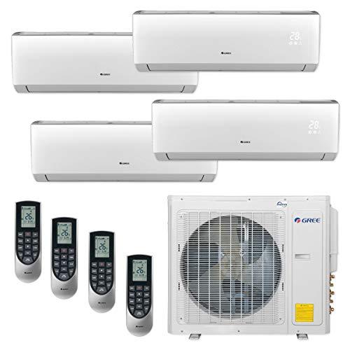 GREE MULTI30CLIV402-30,000 BTU Multi21+ Quad-Zone Wall Mount Mini Split Air Conditioner Heat Pump 208-230V (9-9-12-12)