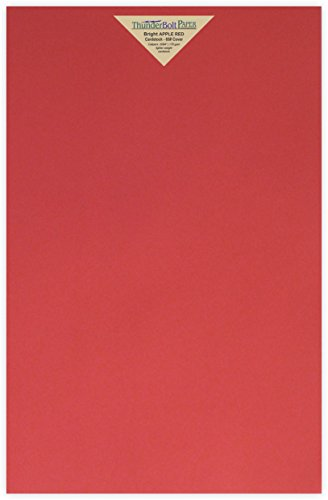 25 Bright Apple Red Color 65lb Cover|Card Paper - 12 X 18 (12X18 Inches) Large|Poster Size - 65 lb/pound Light Weight Cardstock - Quality Printable Smooth Surface for Colorful Results