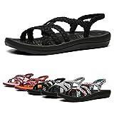 EAST LANDER Women's Comfortable Flat Walking Sandals with Arch Support Waterproof for Walking/Hiking/Travel/Wedding/Water Spot/Beach.18ZDKDEA01-W6-11 BD