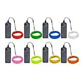 Zitrades EL Wire Kit 9ft, Portable Neon Lights for Parties, Halloween, Blacklight Run, DIY Decoration (8 Pack, Each of 9ft, Red, Green, Pink, Lemon Green, Blue, White, Yellow, Orange)
