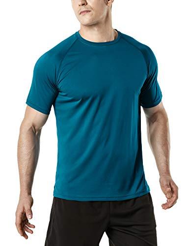 - TSLA Men's HyperDri Short Sleeve T-Shirt Athletic Cool Running Top MTS Series, Athletic Short Sleeve(mts30) - Teal, 2X-Large