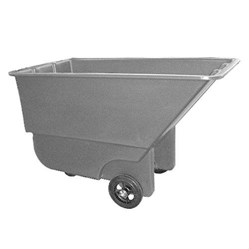 Boss Cleaning Equipment B024413 Heavy Duty Gray Tilt Truck, 1200 lb. Capacity, 1.1 Cube