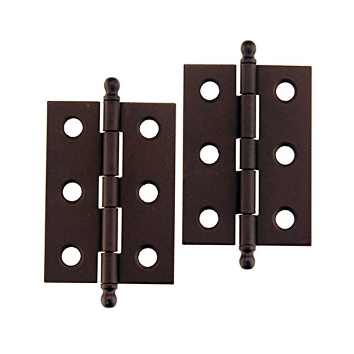 HB-821ORB OIL RUBBED BRONZE PLATED STEEL HINGE - 2PC/PACK + FREE BONUS (SKELETON KEY BADGE) (Gate Antique Hinges)