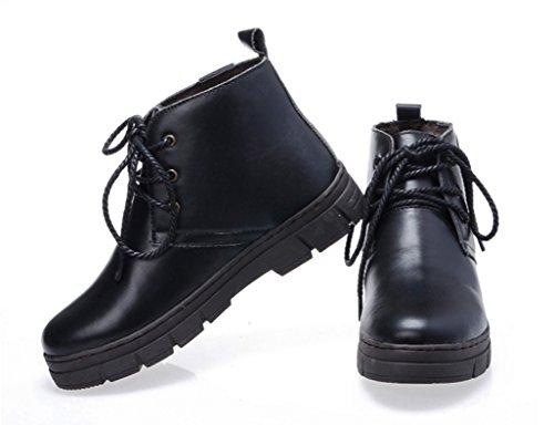Bottes Bottes à d'hiver Noir Noir Chaussures Couleur Neige des Dérapant Raquettes Courtes et Boots Bottes Taille Coton Neige en Anti épaississant de 38 BSSYqWf