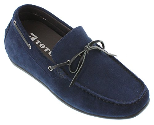 inches on Nubuck Increasing Elevator Height Navy Blue Taller H32606 Slip Shoes 4 2 TOTO OwtaFa