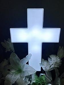 Amazon.com : Eternal Light Cross Solar Lighted Cross for