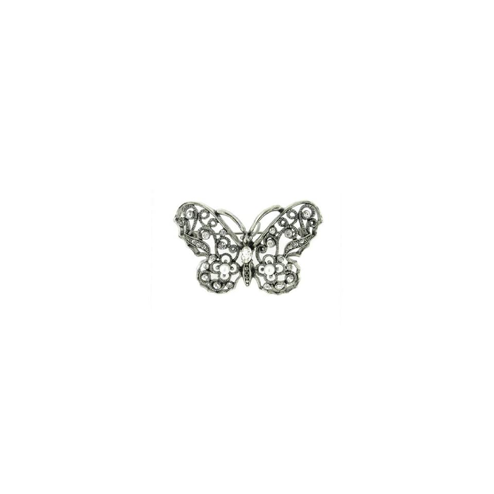 Young & The Restless ~ Gloria ~ Rhinestone Butterfly Brooch Pin