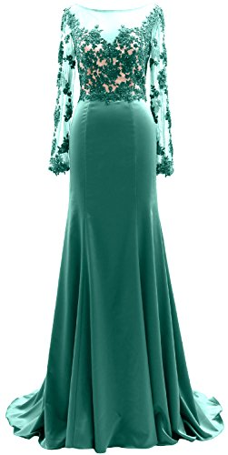 Bride Mother Illusion The Long Evening Turquoise Dress Sleeves Macloth Lace Gown Of Women xwvHqH4AO
