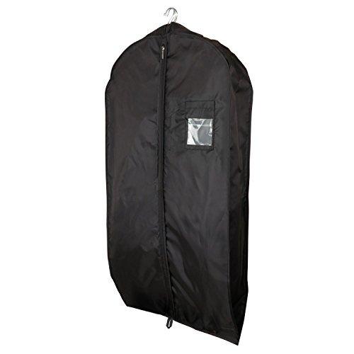 Hangerworld - 3 Borse porta abiti in nylon nero resistente ed impermeabile 112 cm