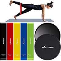 Movtotop 7-Piece Resistance Bands and Core Sliders