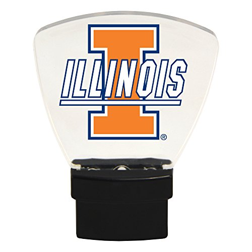 - Authentic Street Signs NCAA Officially Licensed-LED NIGHT LIGHT-Super Energy Efficient-Prime Power Saving 0.5 watt, Plug In-Great Sports Fan gift for Adults-Babies-Kids Room (Illinois Fighting Illini)
