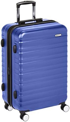 Amazon Basics Premium Hardside Spinner Luggage with Built-In TSA Lock - 26-Inch, Blue