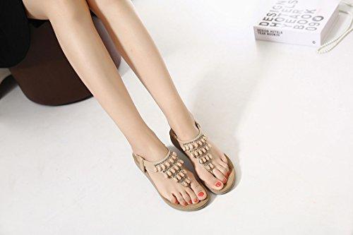 de Dames Bascules Orange Femmes de Ruiren Dété de Plates Sandales pour Chaussures des Bohème aW4fwq