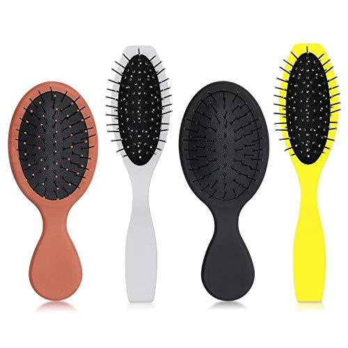 Parabirds Hair Brush for Boys Girls,Wet Dry Brush Hair Brush for Men Women Kids,Small Brush Comb, Mini Travel Detangler Massage Beauty for All Hair Types