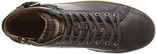 Pikolinos YORKVILLE W0D_I15 - zapatillas deportivas altas de cuero mujer gris - Grau (Lead)