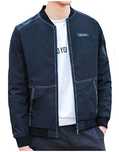 Front Comfort MogogoMen Zip Regular Fit Jacket College Black Soft Western TIwg7FqZ