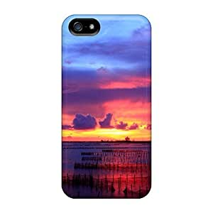 High Quality 6Plus Multicolored Sunset Skin Case Cover Specially Designed For Iphone - 5/5s