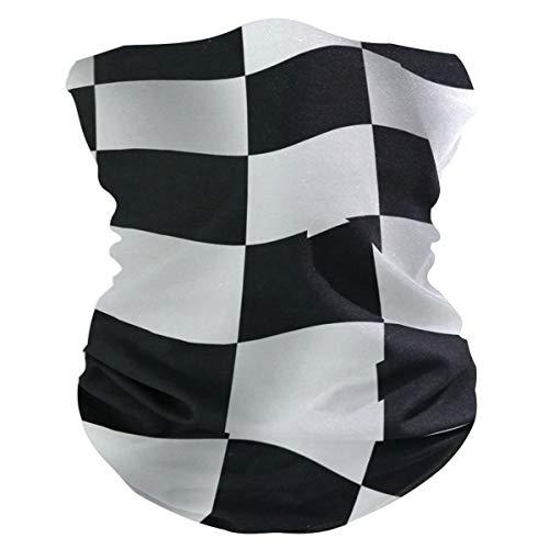 (Checkered Flag Outdoor Magic Headband Multifunctional Elastic Seamless BandanScarf UV Resistence Sport Headwear)
