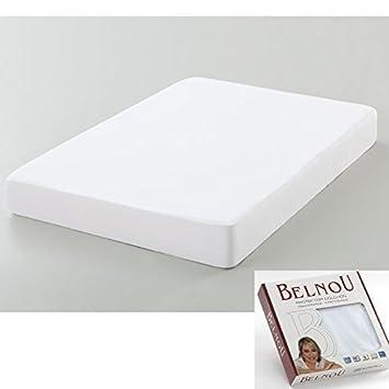 Belnou. Protector de Colchón Impermeable y Transpirable Rizo Algodón Natural 100% y Lámina PU. Elite (105x190/200 cm): Amazon.es: Hogar