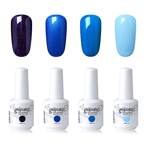 Elite99 Soak Off Gel Nail Polish Set UV LED Nail Art Kit 4 C