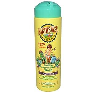 Earths Best Organic Soothing Shampoo Body Wash Lavender 8.5 fl