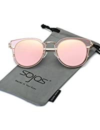 Fashion Polarized Sunglasses for Women UV400 Mirrored Lens SJ1057