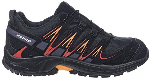 Salomon XA Pro 3D CSWP J, Zapatillas de Running Unisex Niños Negro (Black/snorkel Blue)