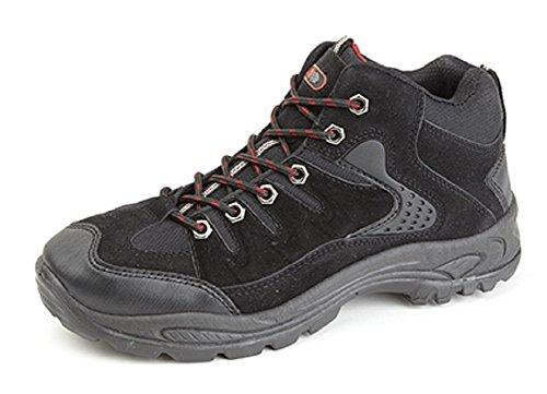 Dek Ontario mid-height Trek y Trail botas. sintética nobuck/palas de textil. Suela de TPR negro
