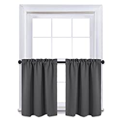 NICETOWN Rod Pocket W29 Curtain Set