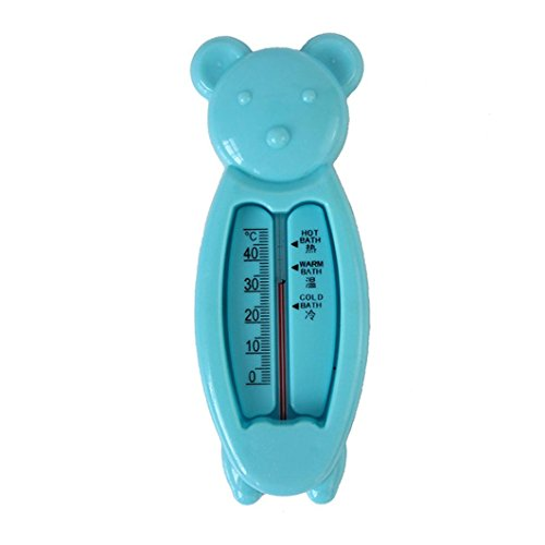 (Fheaven (TM) Lovely Floating Water Sensor Thermometer Plastic Float Toy Baby Bath Tub Thermometer (Blue))