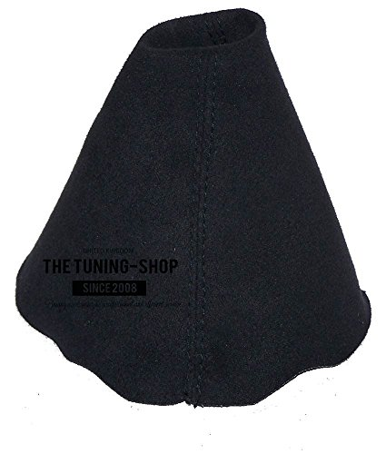 (The Tuning-Shop Ltd Fits Audi TT Mk2 2006-2013 Shift Boot Custom Made Shift Boot Black Genuine Suede With Black Stitching )