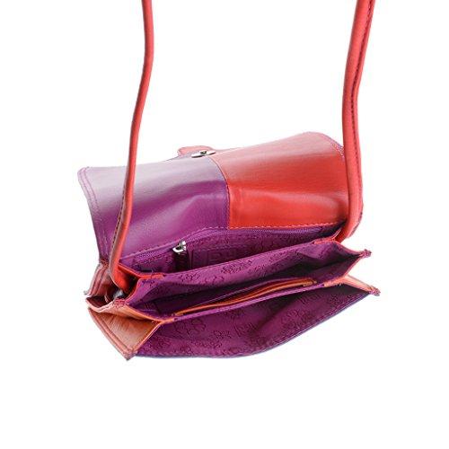 DuDu 534-366-12, Borsa a spalla donna Viola Violet compact