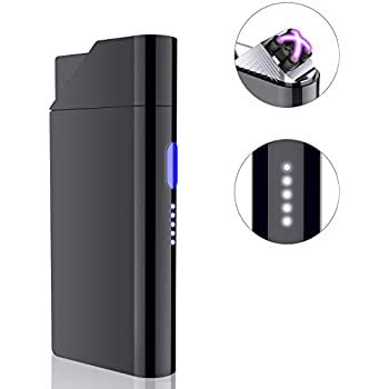 Arc Electric Lighter, Windproof Lighter Rechargeable Micro-USB Interface Plasma Arc Lighter