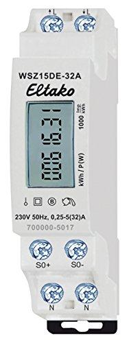 ungeeicht 230 V Eltako WSZ15DE-32A Wechselstromz/ähler