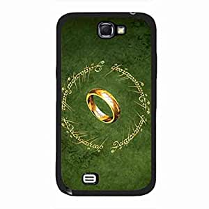 Protection funda caja del telefono celular for Samsung Galaxy Note 2,The Lord of the Rings American Movie Series 2001,Hard Plastic Samsung Galaxy Note 2 Cover Case